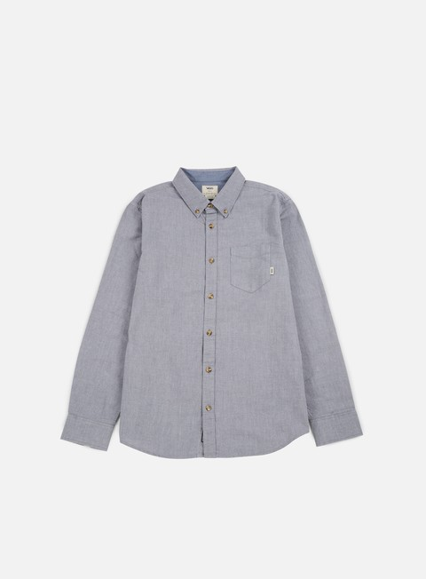 camicie vans houser ls shirt gravel