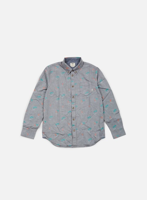camicie vans houser shirt new charcoal flamingo