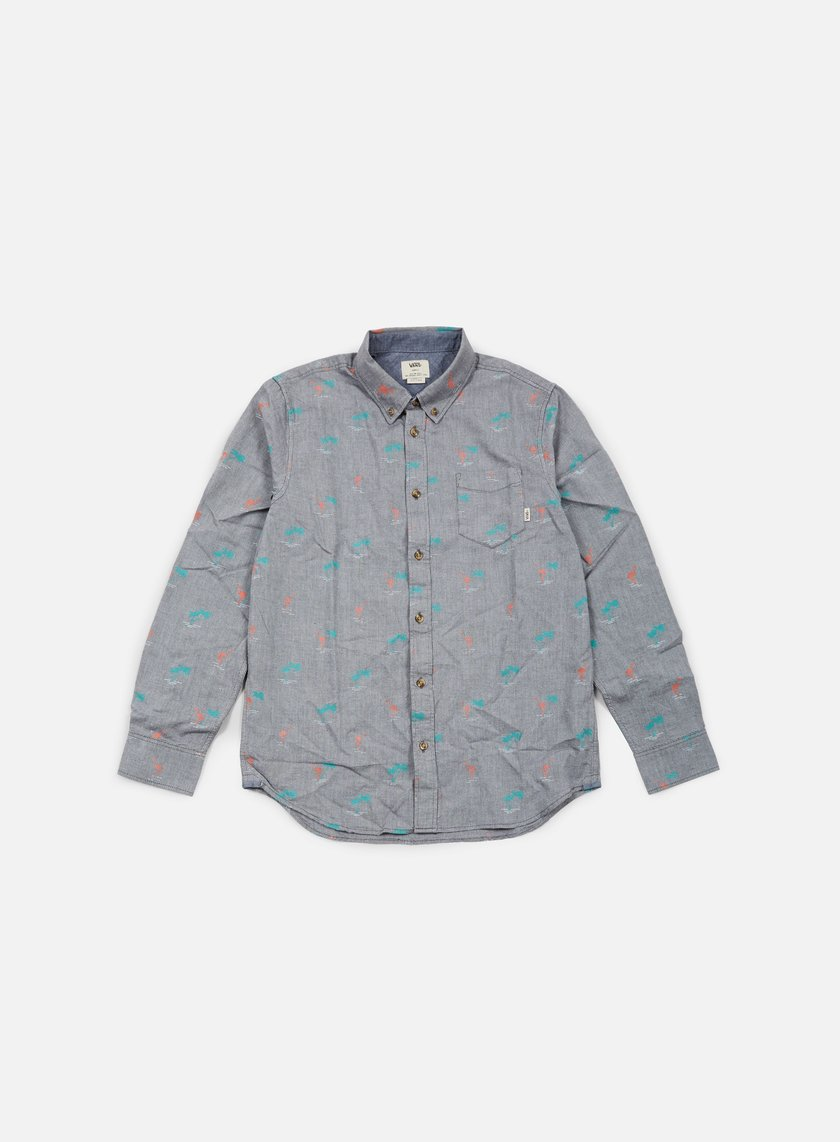 Vans - Houser Shirt, New Charcoal/Flamingo