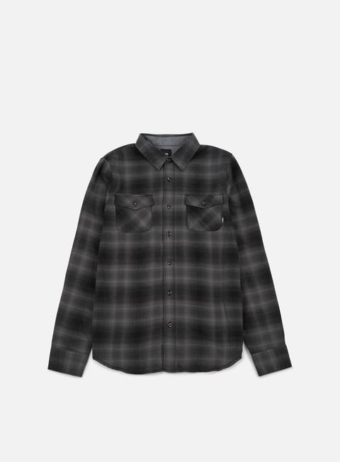 camicie vans monterey ii ls shirt black