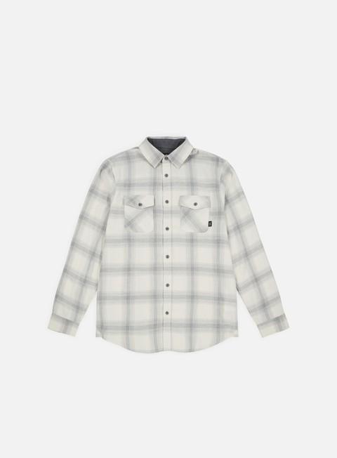 camicie vans monterey iii ls shirt natural heather grey