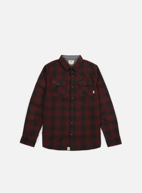 camicie vans monterey shirt black port royale