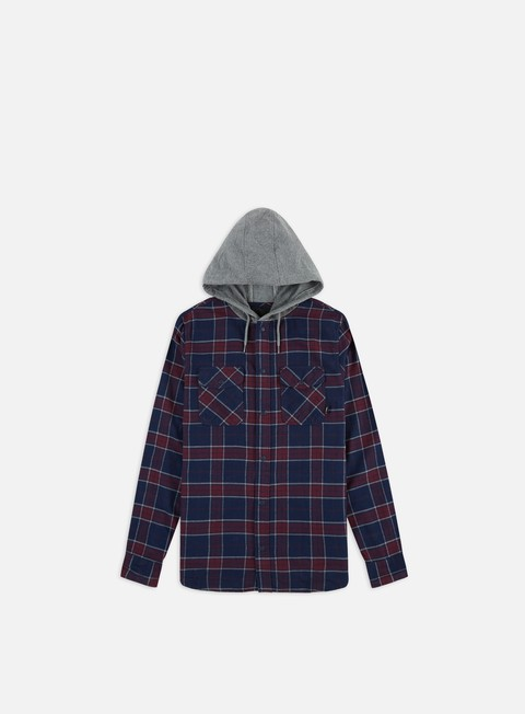 Camicie a Manica Lunga Vans Parkway Hooded LS T-shirt