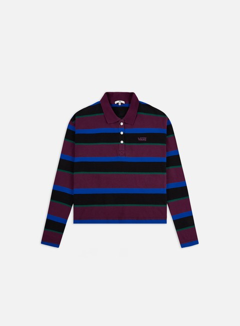 Sale Outlet Polo Vans WMNS Stripe IT Polo LS Shirt