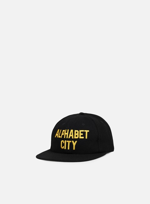 cappellini acapulco gold alphabet city 6 panel hat black