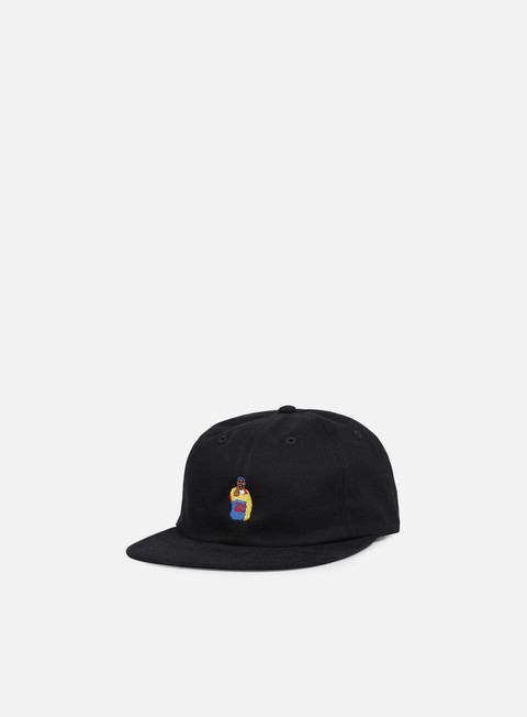 cappellini acapulco gold chef 6 panel hat black
