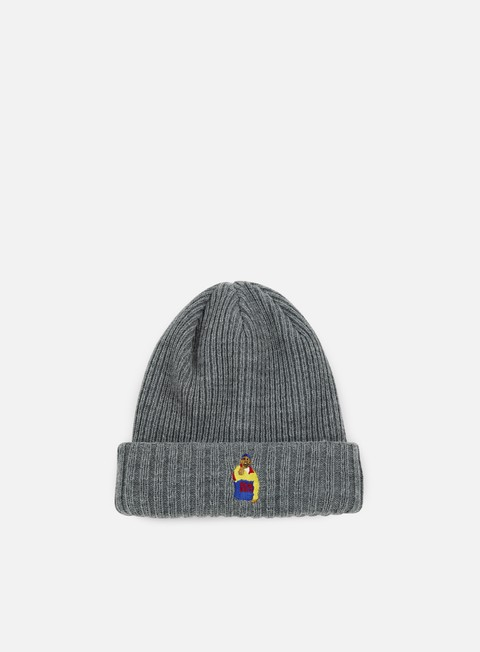cappellini acapulco gold chef beanie heather grey
