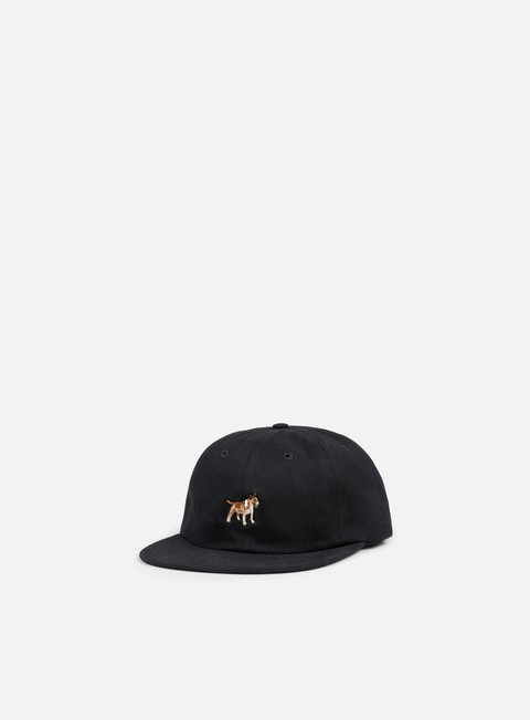 cappellini acapulco gold purebred 6 panel strapback black