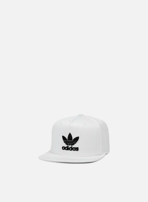 cappellini adidas originals ac tre flat snapback white black
