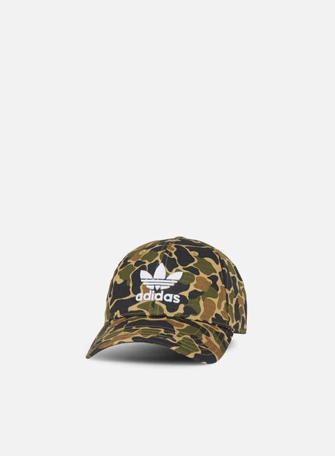 Curved Brim Caps Adidas Originals Camo Baseball Cap