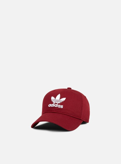cappellini adidas originals classic trefoil strapback collegiate burgundy