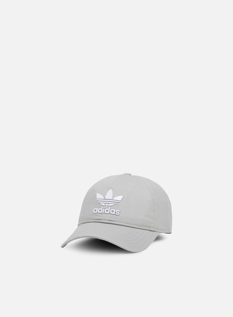 cappellini adidas originals classic trefoil strapback medium grey heather solid grey