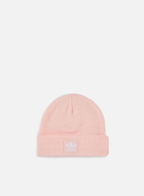 cappellini adidas originals logo beanie icey pink white