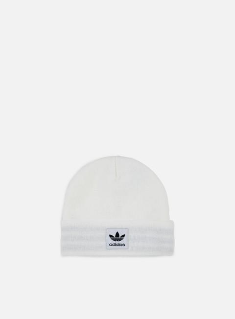 cappellini adidas originals logo beanie white black