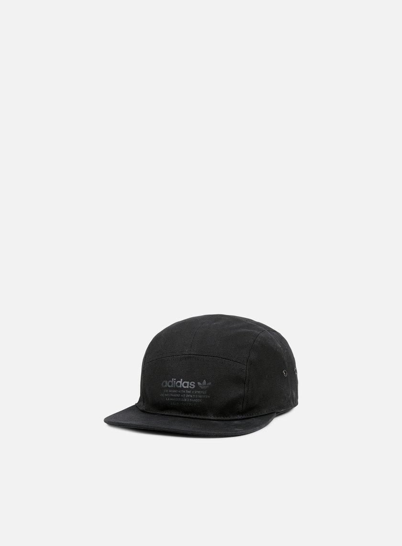 Adidas Originals - NMD 5 Panel Cap, Black/Linen Khaki