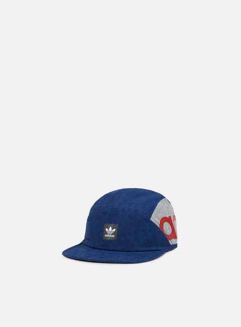 cappellini adidas skateboarding chalk 5 panel cap mystery blue