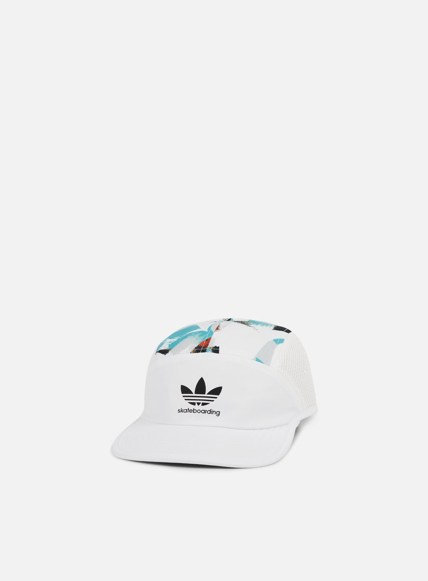Adidas Skateboarding - Courtside Five Panel Cap, White/Multicolor