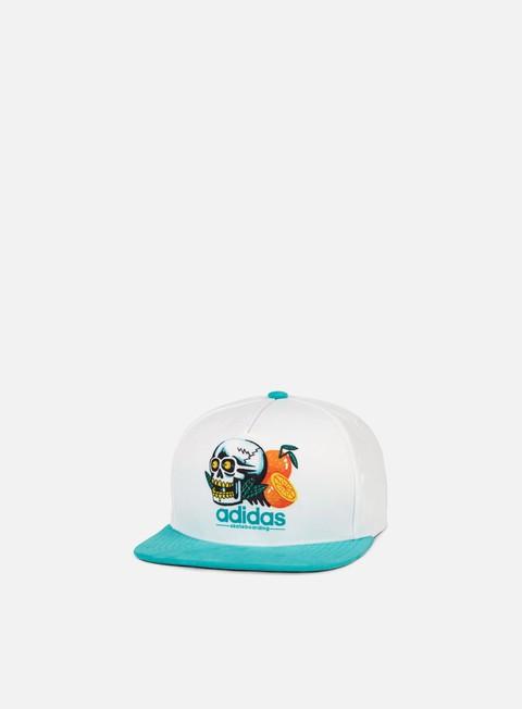 cappellini adidas skateboarding oranges e skull snapback white shock green
