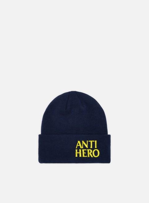 cappellini antihero black hero emb beanie navy