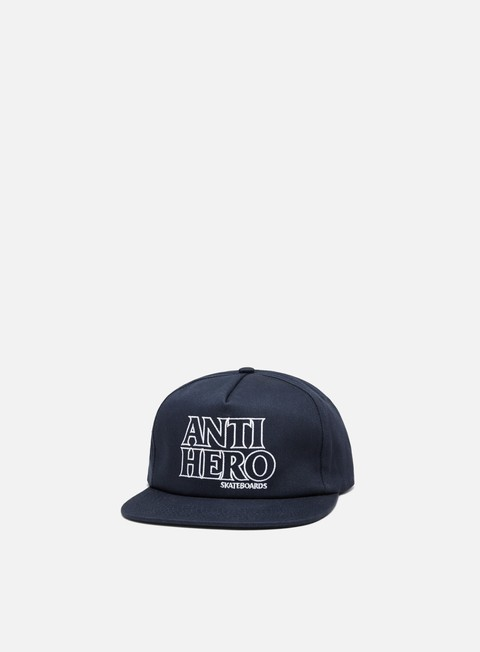 cappellini antihero black outline snapback navy