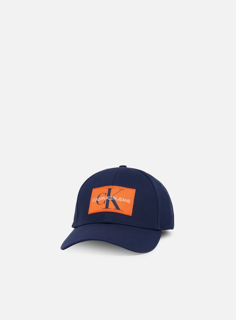 cappellini calvin klein jeans monogram baseball cap blue depths