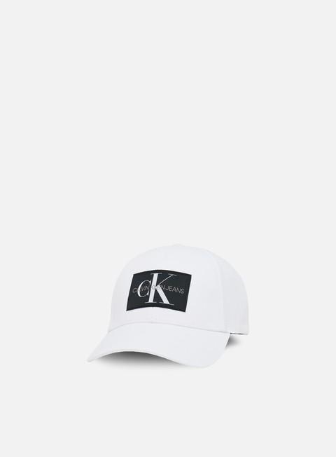 cappellini calvin klein jeans monogram baseball cap ckj white