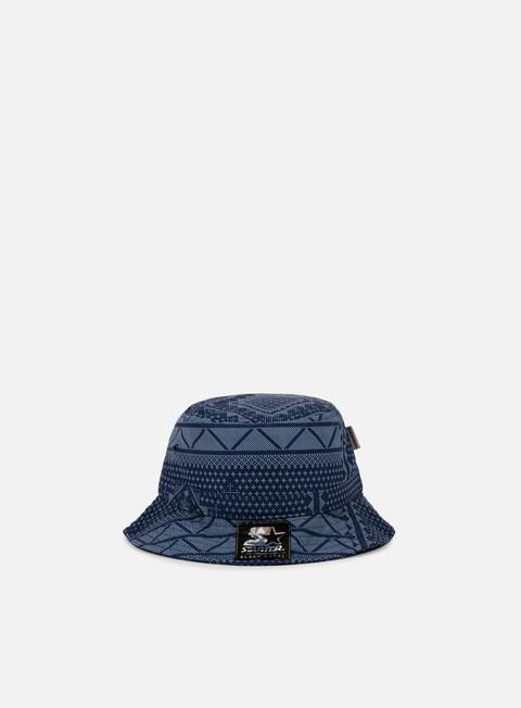 cappellini carhartt assyut print bucket hat assyut print blue white