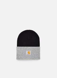 Carhartt - Bi-Colored Acrylic Watch Hat, Black/Grey Heather