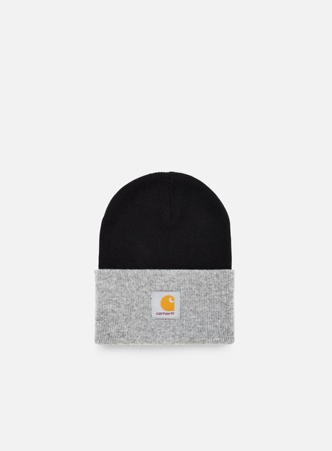 cappellini carhartt bi colored acrylic watch hat black heather grey
