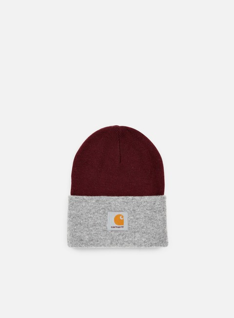 cappellini carhartt bi colored acrylic watch hat chianti grey heather