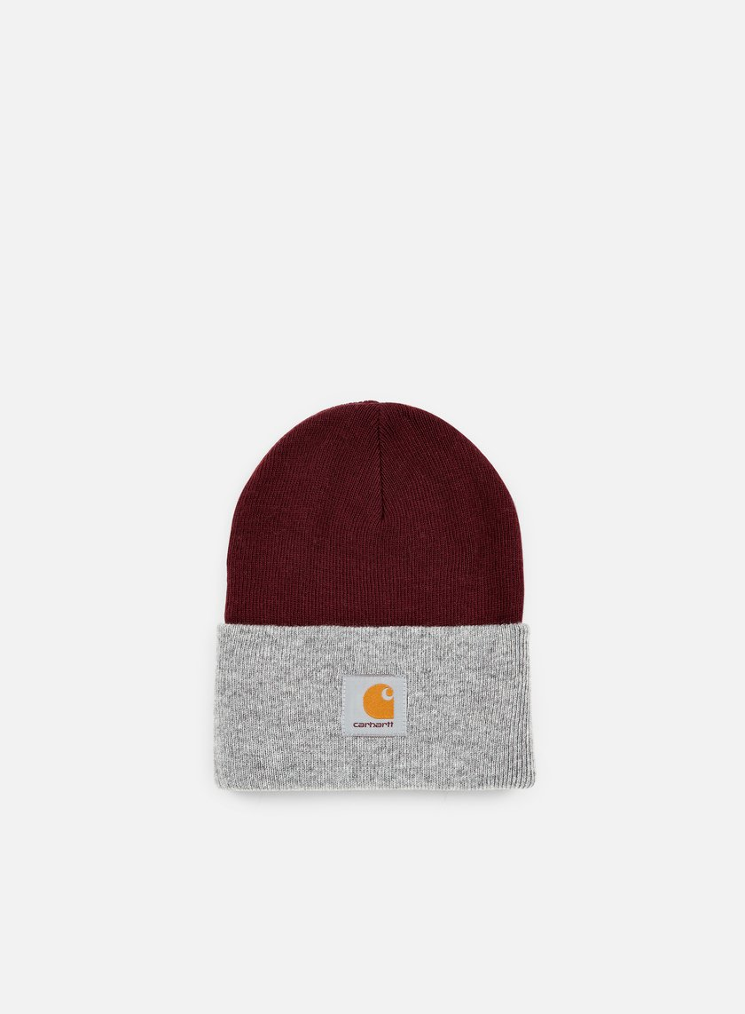 Carhartt - Bi-Colored Acrylic Watch Hat, Chianti/Grey Heather