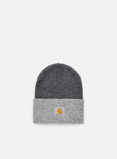 Carhartt - Bi-Colored Acrylic Watch Hat, Dark Gey Heather/Grey Heather