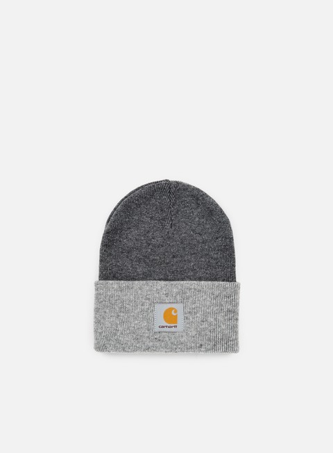 cappellini carhartt bi colored acrylic watch hat dark gey heather grey heather