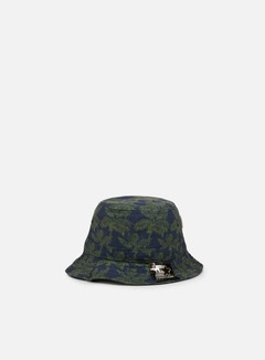 Carhartt - Ghetto Palm Print Bucket Hat, Dark Navy/Bog 1