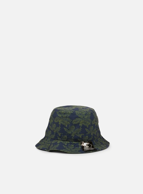 cappellini carhartt ghetto palm print bucket hat dark navy bog
