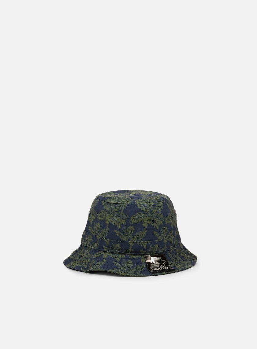 Carhartt - Ghetto Palm Print Bucket Hat, Dark Navy/Bog