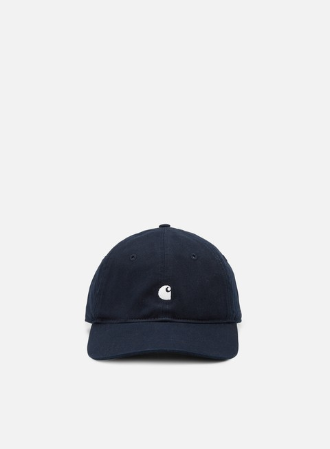 cappellini carhartt madison logo cap dark navy wax