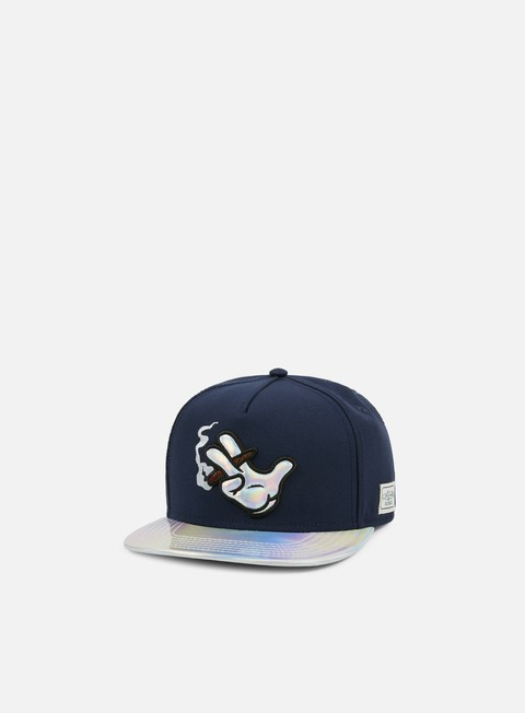 cappellini cayler e sons baked snapback navy navy tie dye holographic
