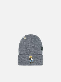 Cayler & Sons - CHMPGN DRMS Old School Beanie, Heather Grey/Multi 1