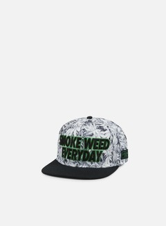 Cayler & Sons - Everyday Snapback, White Kush/Black/Green 1
