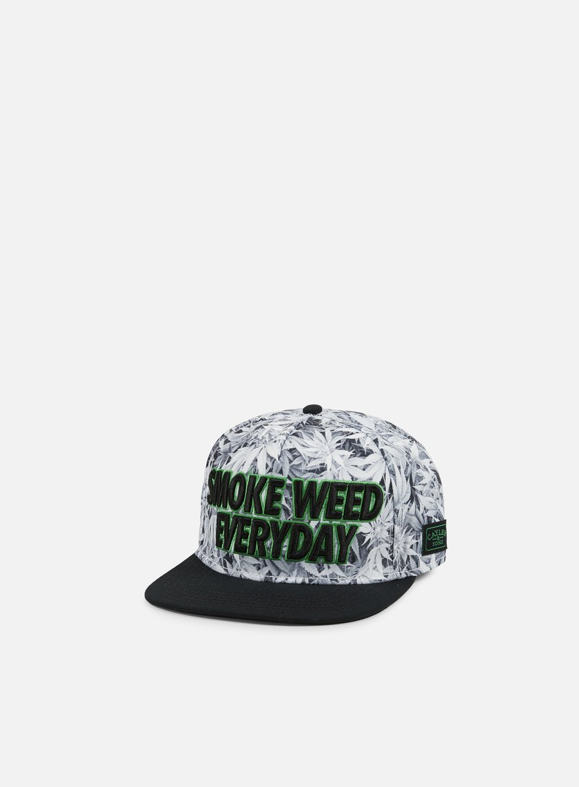 Cayler & Sons - Everyday Snapback, White Kush/Black/Green