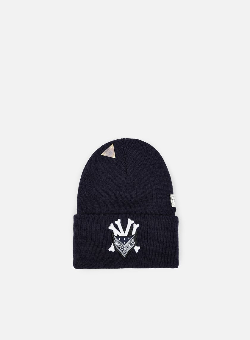 Cayler & Sons - Grime Old School Beanie, Navy/White