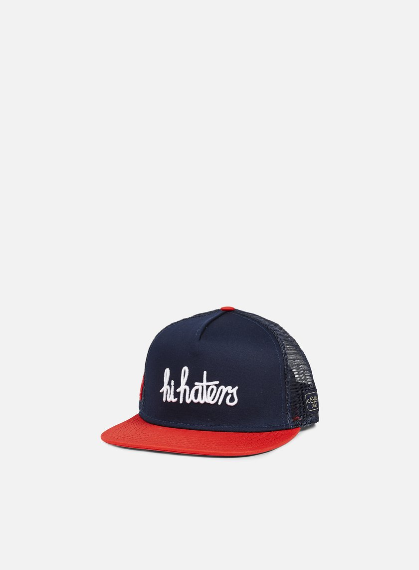 Cayler & Sons - Hi Haters Trucker Cap, Navy/Red