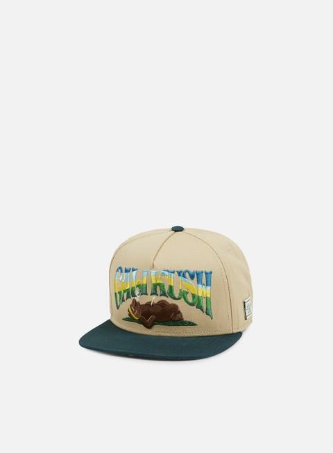 cappellini cayler e sons kushstock snapback sand forest green multi