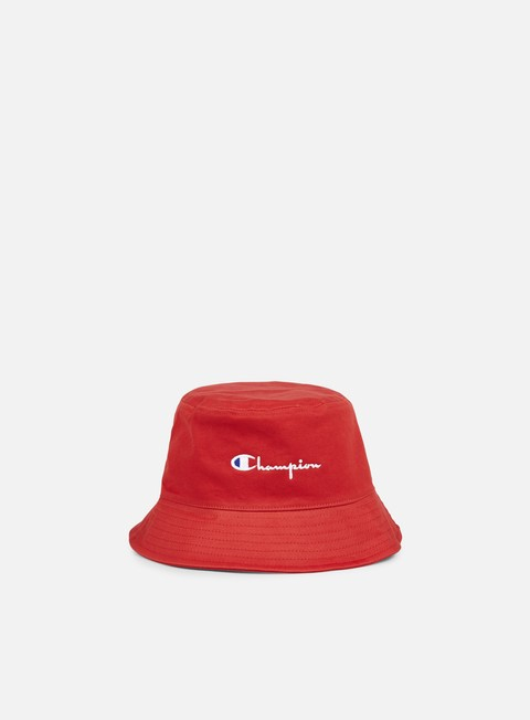cappellini champion reverse weave bucket hat red