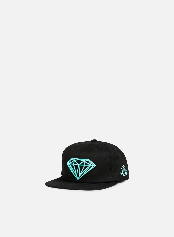 Diamond Supply - Brilliant Snapback, Black/Diamond Blue