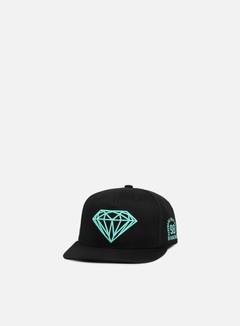 Diamond Supply - Brilliant Snapback II, Black/Diamond Blue 1