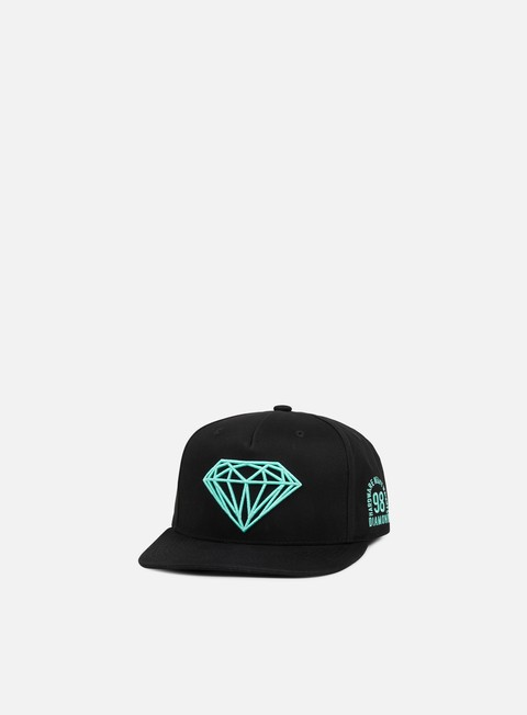 cappellini diamond supply brilliant snapback ii black diamond blue