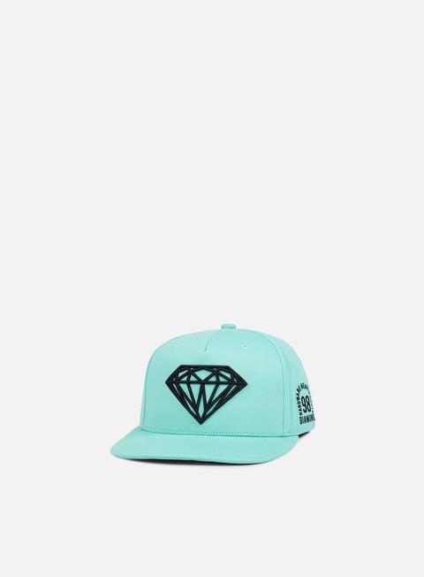 cappellini diamond supply brilliant snapback ii diamond blue black