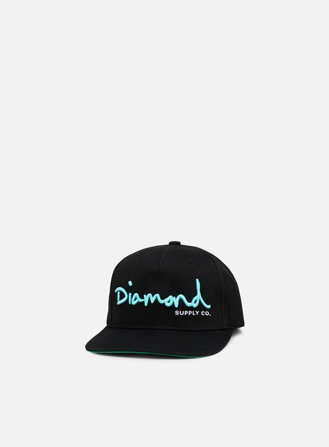 cappellini diamond supply og script core snapback black